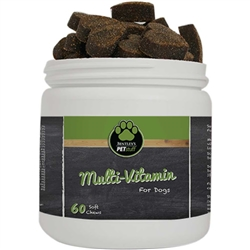 Custom Label Multi-Vitamin Heart Shaped Soft Chews for Dogs - 60 ct.