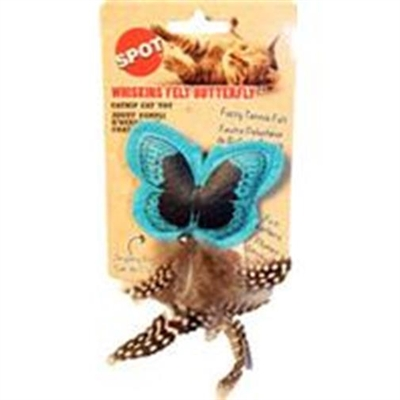 Ethical Pet Felt Butterfly for Cats Assorted Colots