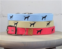 Black Lab Embroidered Dog Collar
