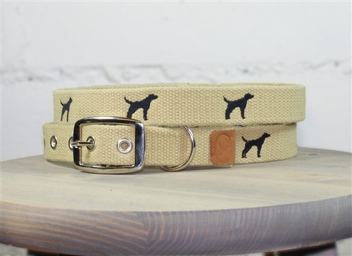 Black Lab Embroidered Dog Collar