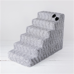 Luxury Pet Stairs 6 Step: Dove Grey
