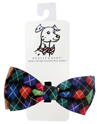 Multi Argyle Bow Tie by Huxley & Kent