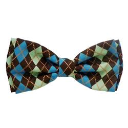 Teal Argyle Bow Tie by Huxley & Kent