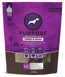 Purpose Freeze-Dried Turkey & Veggie Dog Food, 14oz. Pattys