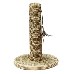 "Petpals seagrass post 15"" with Feathered Toy"