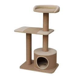 "Petpals Piller 39"" 3 Level Cat Tree, with Condo, Perch, and Paper Rope Posts"