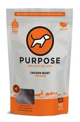 Purpose Freeze-Dried Chicken Heart Treats For Dogs & Cats, 3oz. bags