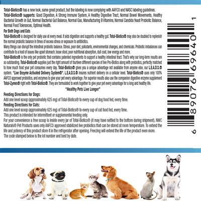 """Total-Biotics® for Pets – """"Now with double the probiotics"""""""
