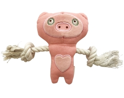 SimplyFido Basic Collection - Little Pixie Pig Pink Rope toy