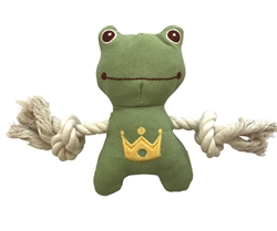 SimplyFido Basic Collection - Little Charles Frog Green Rope toy