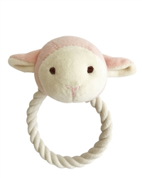 Beginnings Lolly Lamb Rope toy w/ squeaker