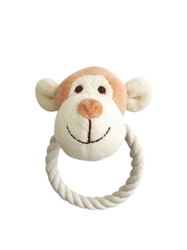 Beginnings Oscar Monkey Rope toy w/ squeaker