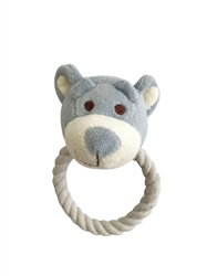 Beginnings Wally Bear Rope toy w/ squeaker