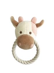 Beginnings Millie Cow Rope toy w/ squeaker