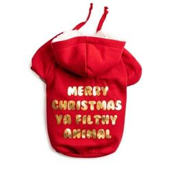 Red Merry Christmas Filthy Animal Hoodie