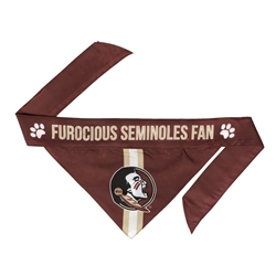 NCAA Florida State Dog Bandana  - TIE ON
