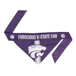 NCAA Kansas State Dog Bandana  - TIE ON