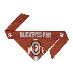 NCAA Ohio State Dog Bandana  - TIE ON