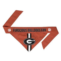 NCAA Georgia Dog Bandana  - TIE ON