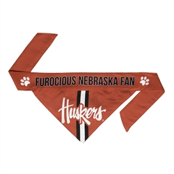 NCAA Nebraska Dog Bandana  - TIE ON