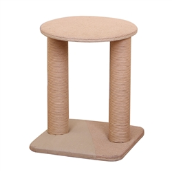 "Petpals, 20"" Throne, 1 Level Cat Tree, with Paper Rope Posts, Beige"