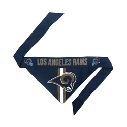 NFL LA Rams Dog Bandana  - TIE ON