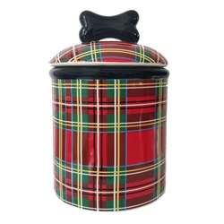 Stewart Plaid Ceramic Bowls & Treat Jars