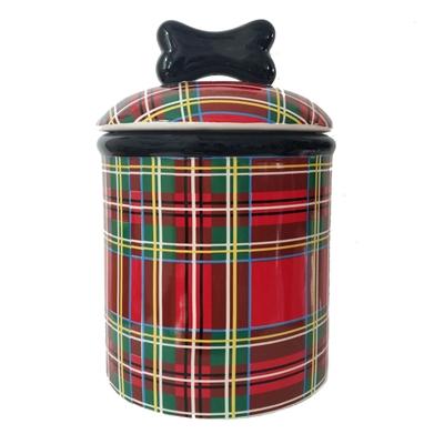 Stewart Plaid Ceramic Bowls & Treat Jars