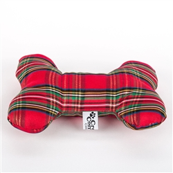 Stewart Plaid Fabric Bone Toy
