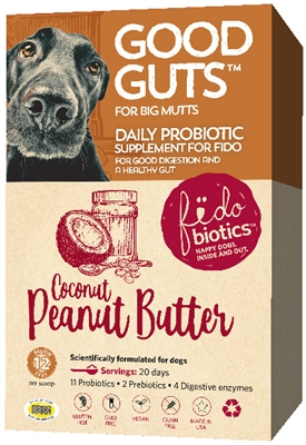 Probiotics - Good Guts For Big Mutts - Coconut Peanut Butter Flavor