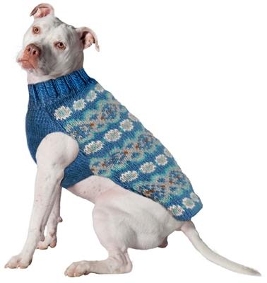 Teal Fairisle Alpaca Sweater