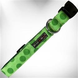 Green Polka Dot Dog Collars and Leads