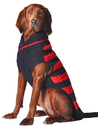 Red and Navy Rugby Sweater