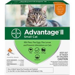 Advantage II Flea Control Small Cat (5-9 lbs.) - 4 MONTH