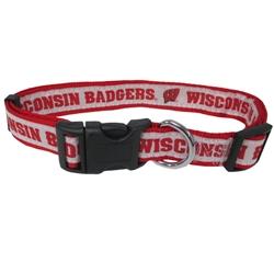 Wisconsin Badgers Dog Collar