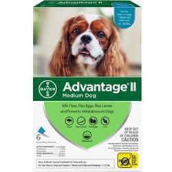Advantage II Flea Control Medium Dog (11-20 lbs.) - 6 MONTH