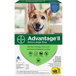 Advantage II Flea Control Extra Large Dog (over 55 lbs.) - 6 MONTH
