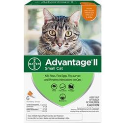 Advantage II Flea Control Small Cat (5-9 lbs.) - 6 MONTH