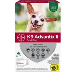 K9 Advantix II Small Dog (4-10 lbs.) - 6 MONTH (GREEN)
