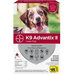 K9 Advantix II Large Dog (21-55 lbs.) - 6 MONTH (RED)
