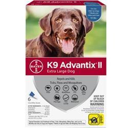 K9 Advantix II Extra Large Dog (over 55 lbs.) - 6 MONTH (BLUE)