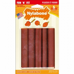 NYLABONE FUN N FIT NATURAL CHICKEN TREATS SMALL 5CT