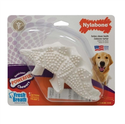 NYLABONE DENTAL CHEW DURABLE DINOSAURS ASSORTED