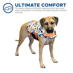 Dog Life Jacket - Paws Aboard Black/White CAMO Neoprene Pet Life Jacket Vest