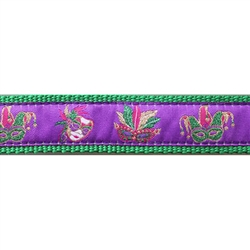 "Mardi Gras Mask - 3/4"" Collars, Leashes and Harnesses"