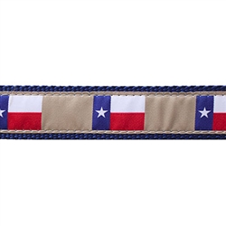 """Texas Flag - 1.25"""" Collars, Leashes and Harnesses"""