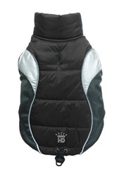 Wave Reflective Puffer Vest - Black