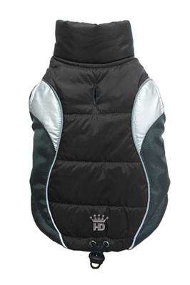 Wave Reflective Puffer Vest - Black