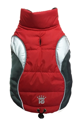 Wave Reflective Puffer Vest - RED