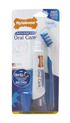 NYLABONE ADVANCED ORAL CARE NATURAL DOG DENTAL KIT